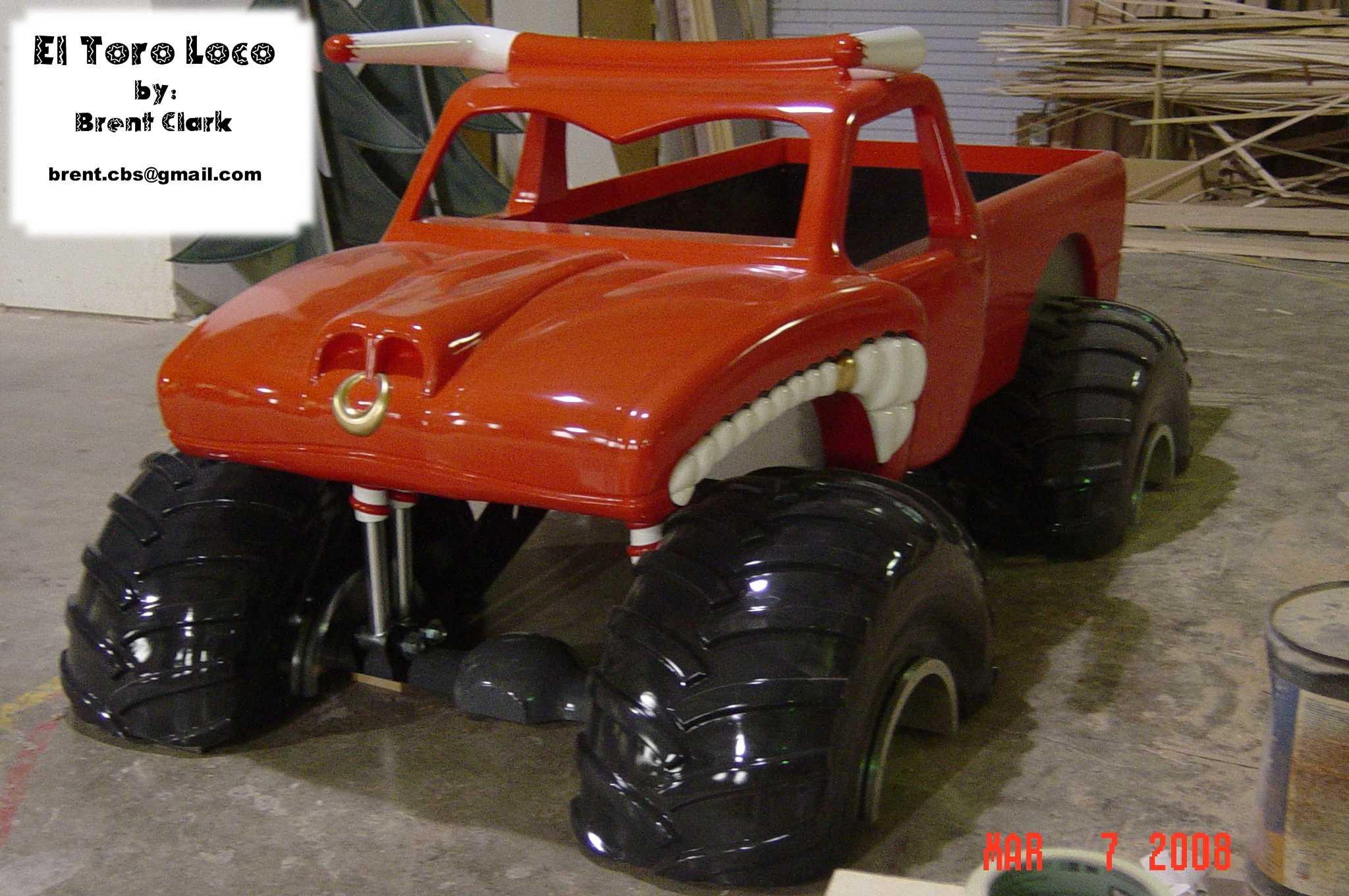 El Toro Loco Monster Truck Bed All Wood