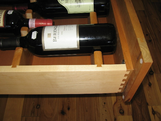 Custom wine drawer