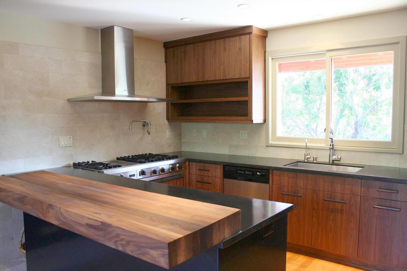 modern walnut kitchen cabinets contemporary walnut kitchen cabinets 7786