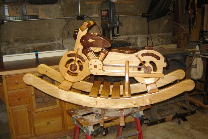 Wood Rocking Motorcycle