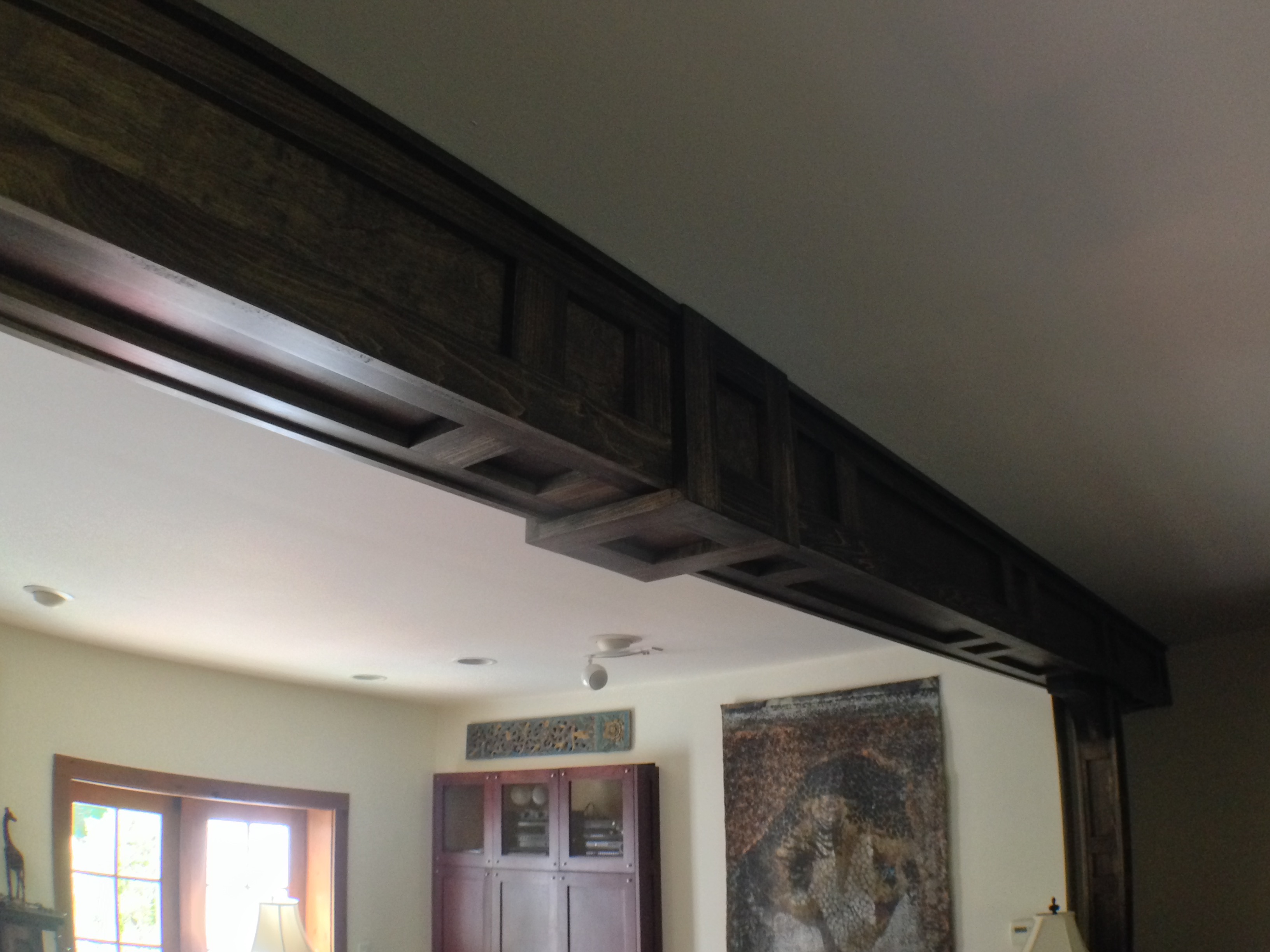 Ceiling Beam Designs - Frame and Panel