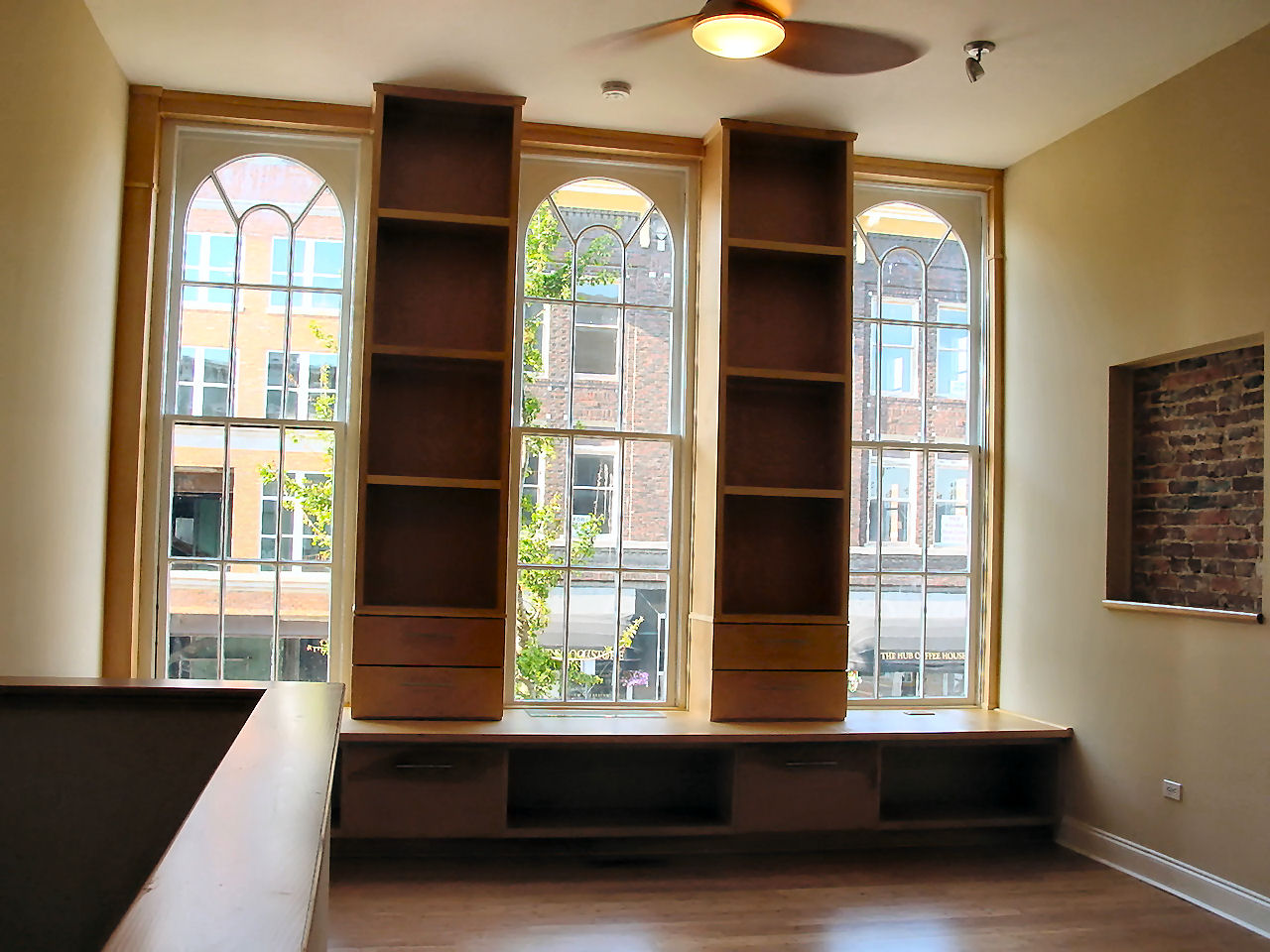Bookcase Bench Seat For Loft Apartment