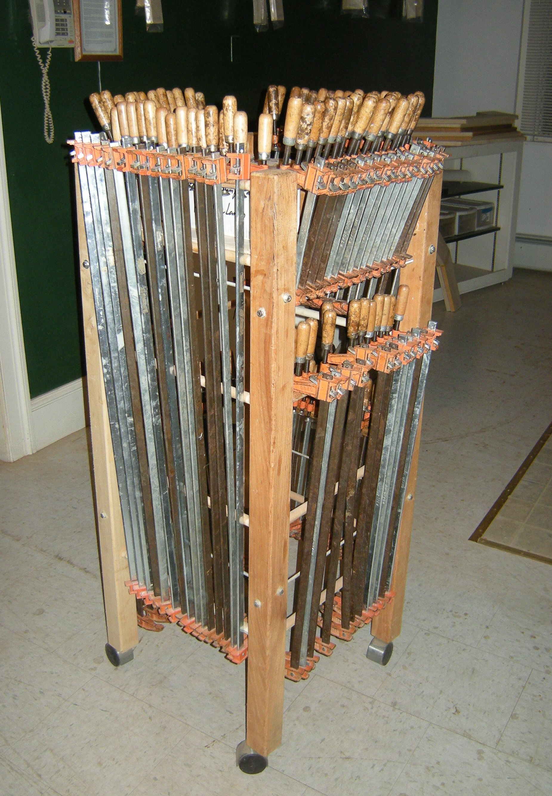 Another portable clamp rack