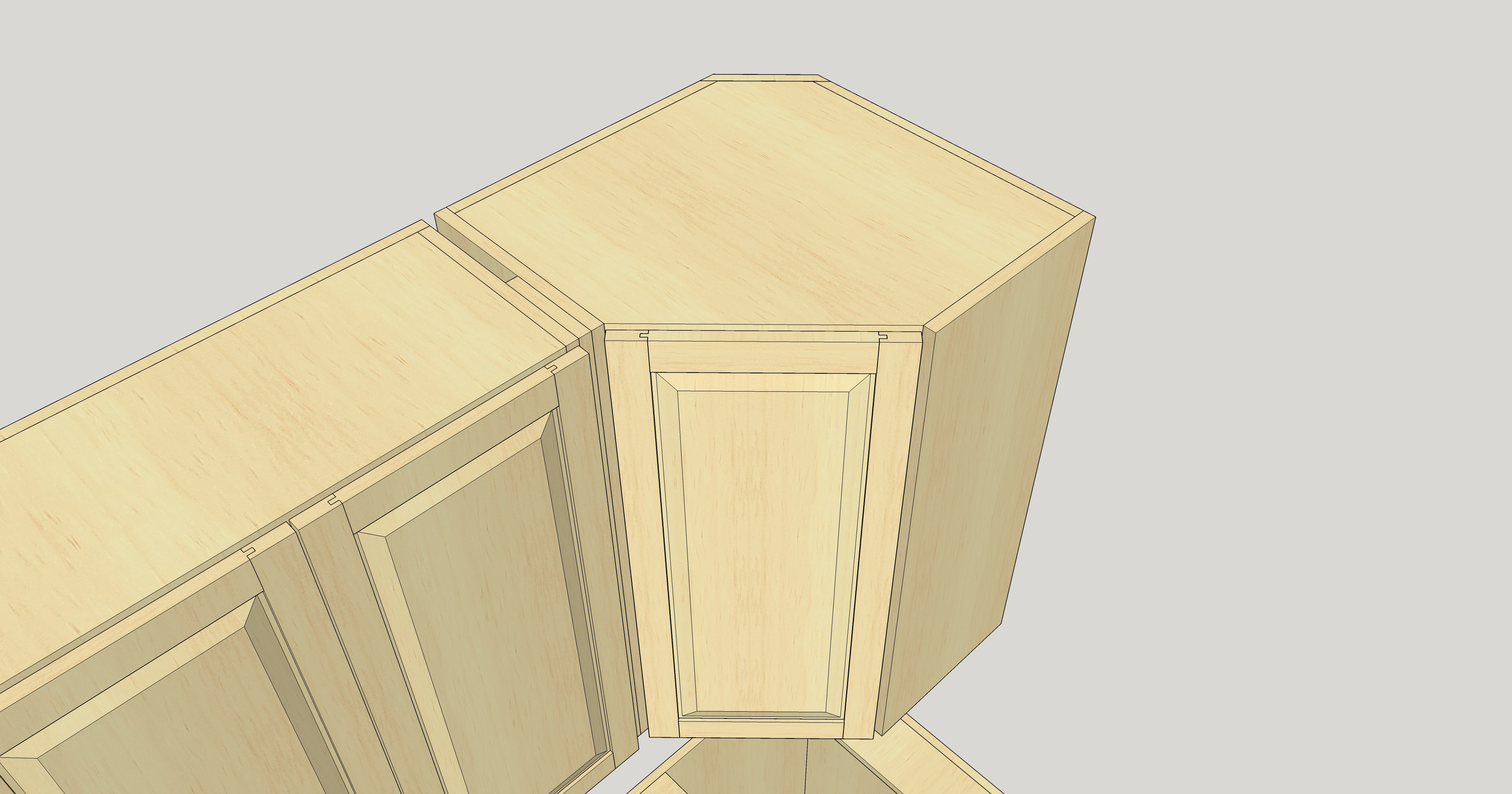 Frameless Upper Corner Cabinet Woodweb S Cabinetmaking Forum