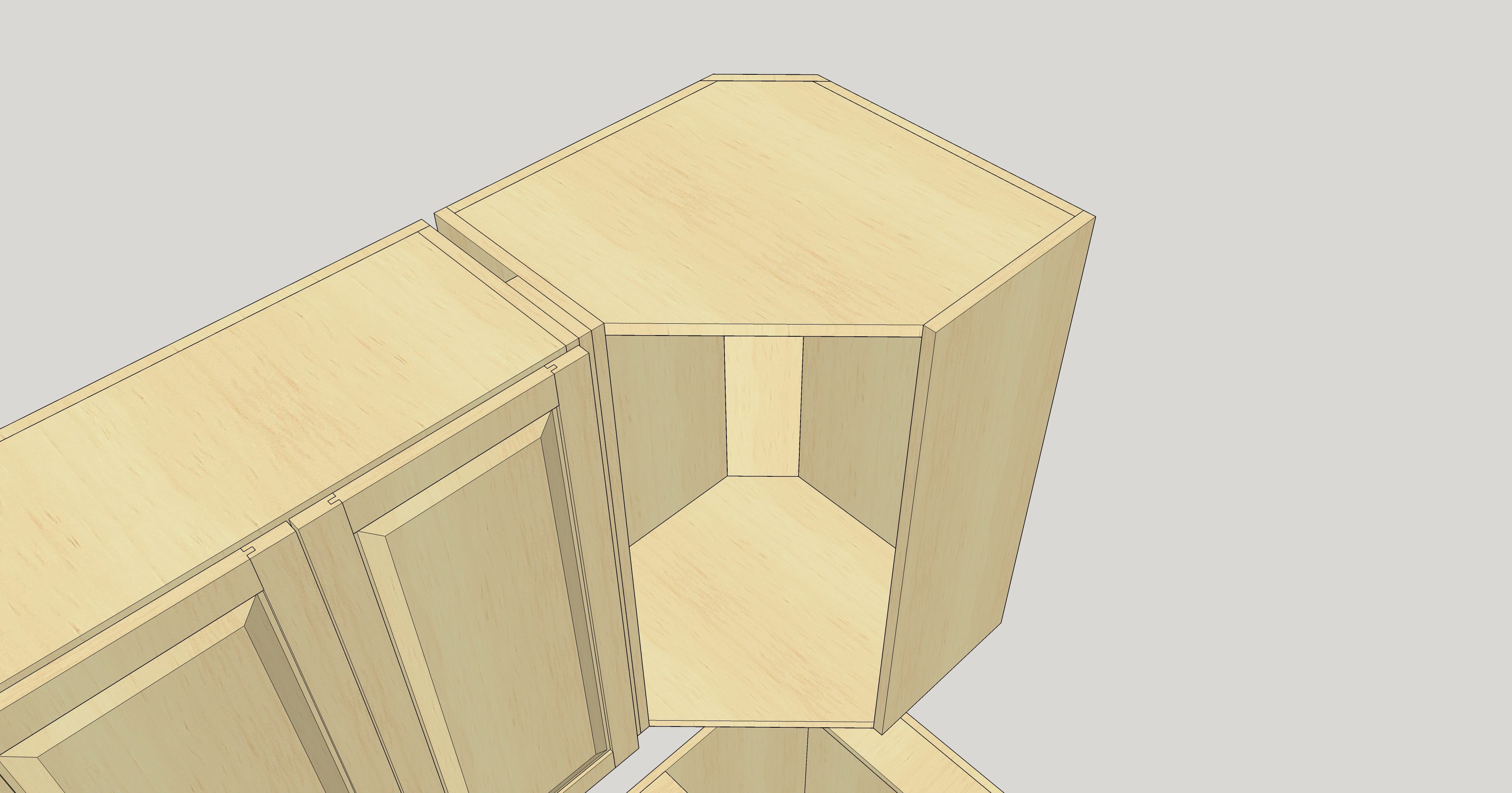 Frameless Upper Corner Cabinet Woodweb S Cabinetmaking Forum