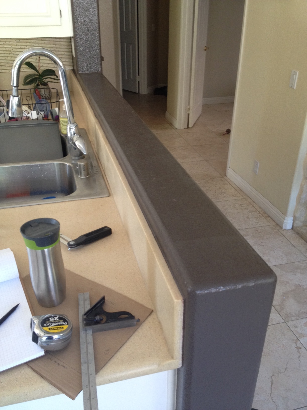 Installing Walnut Countertop On Knee Wall Woodweb S Cabinet And Millwork Installation Forum