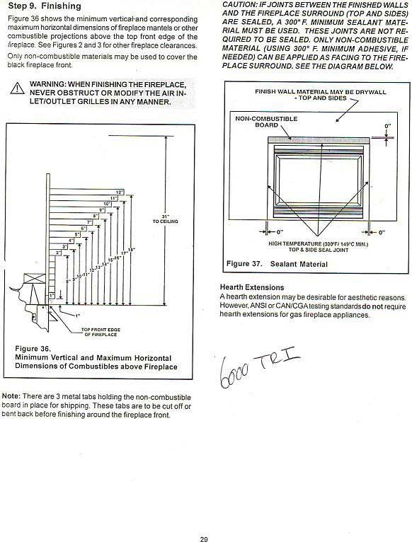 Fireplace Surround Minimum Clearances, Build Mantle Around Gas Fireplace