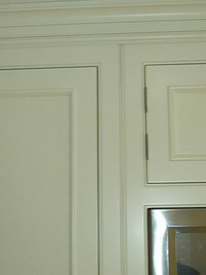 Is That A Bead Between The Two Face Frames Adjoining Cabinets Or Chamfer