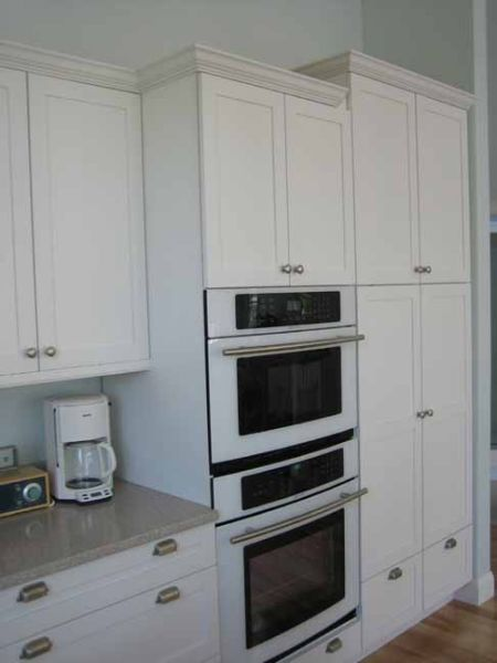 garage upper cabinet ideas - Built in Appliances and Frameless Cabinets