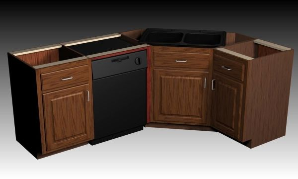 corner kitchen sink base cabinet designing a corner sink cabinet 8356