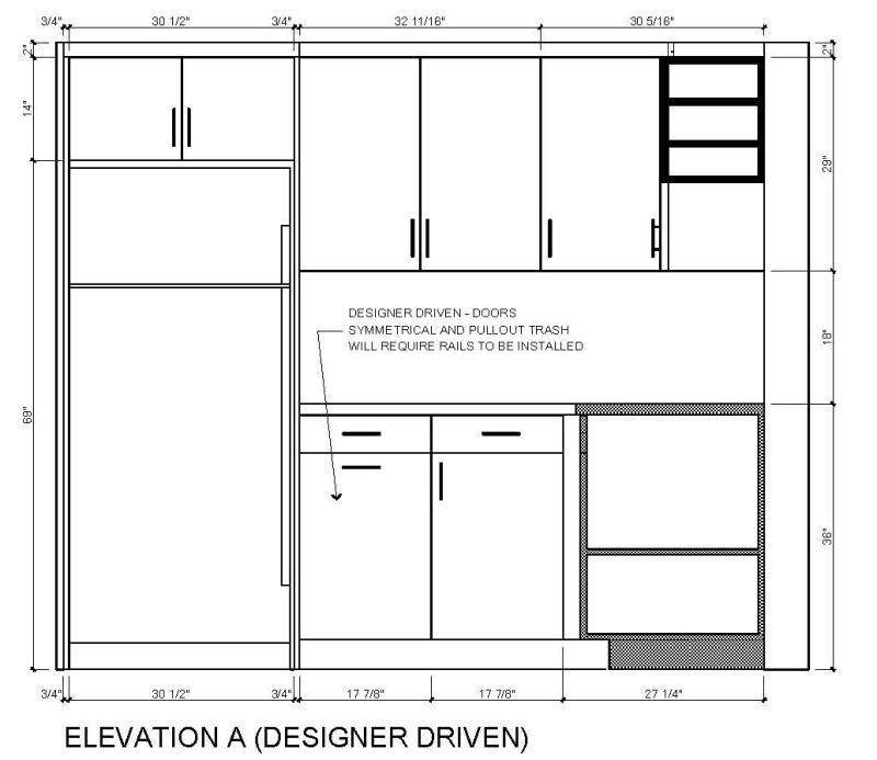 kitchen design size kitchen design symmetry versus functionality 385