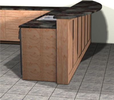 Supporting An Overhanging Granite Countertop